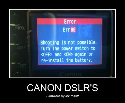 blue screen,canon,camera,microsoft,funny