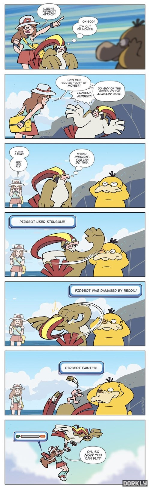 Pokémon,dorkly,pidgeot,web comics