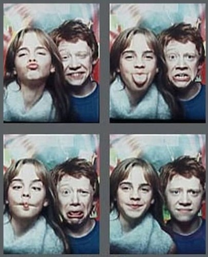 Harry Potter rupert grint photo booth emma watson - 7834838528