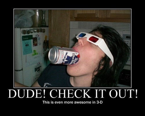 beer 3d wtf funny dude - 7834863360