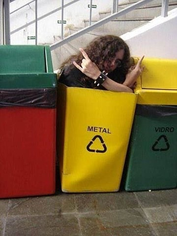 metal horns recycling - 7834874880