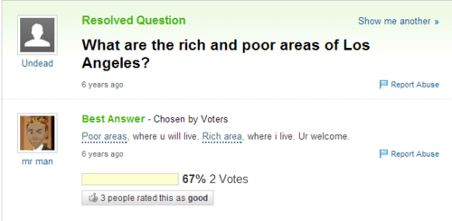 los angeles,poor,rich