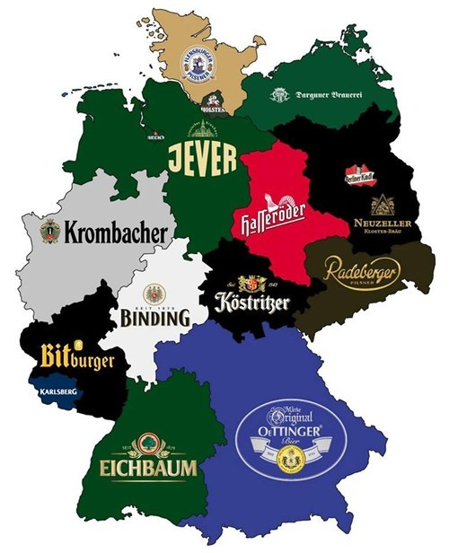 beer map Germany - 7834935808