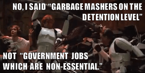 star wars,shut down,garbage mashers