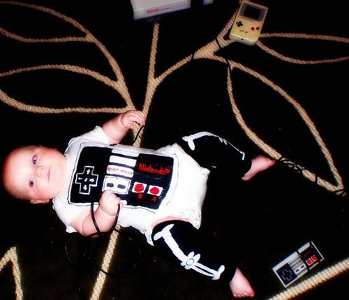 costume baby halloween funny Babies ghoulish geeks parenting video games - 7835114496