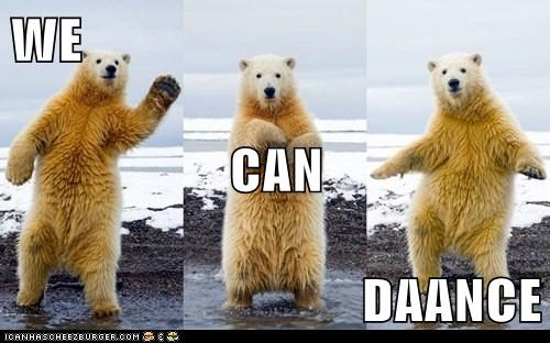 dancing polar bears we can dance - 7835133696
