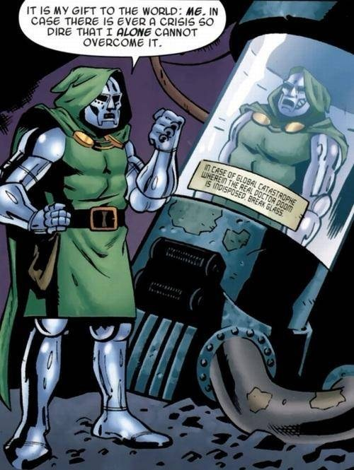 big headed off the page gift doctor doom - 7835195648
