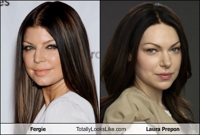 fergie totally looks like laura prepon funny