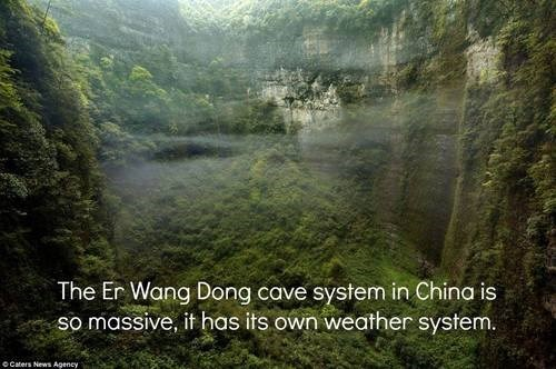 wtf China caves weather science geology huge funny - 7835210240