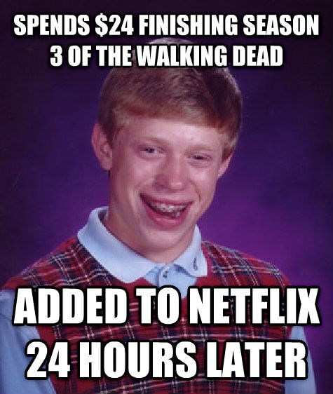 bad luck brian,netflix,The Walking Dead