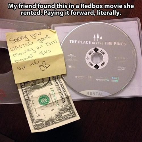 redbox,movies,pay it forward