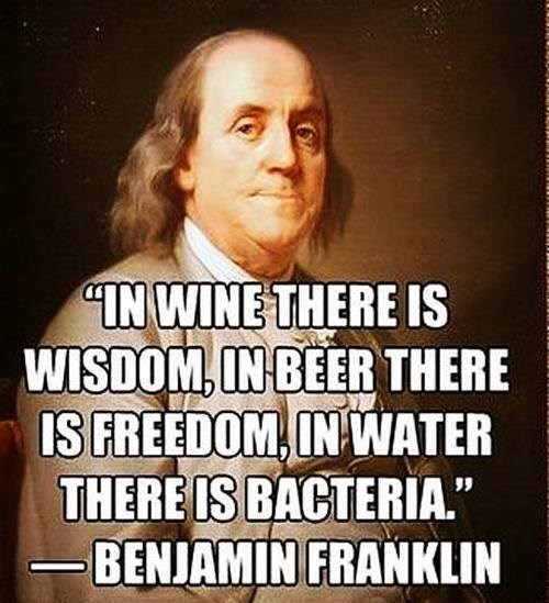 Benjamin Franklin quote funny after 12 - 7835284992