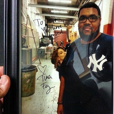 photobomb,autograph,tina fey