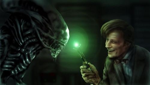 Aliens Fan Art 11th Doctor doctor who - 7835299328