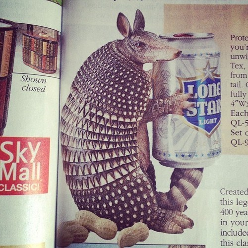 beer armadillo holder funny