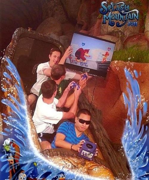 super smash bros gamecube splash mountain - 7835397632