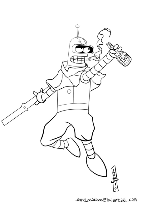 crossover,bender,Fan Art,cartoons,Avatar,futurama