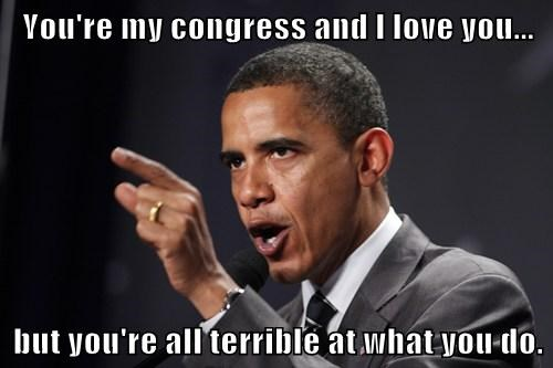 You're my congress and I love you...  but you're all terrible at what you do.