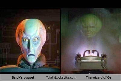 wizard of oz,balok's puppet,totally looks like,puppets,funny