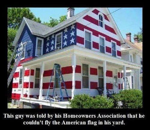 patriotism American Flag pride america houses - 7835845632