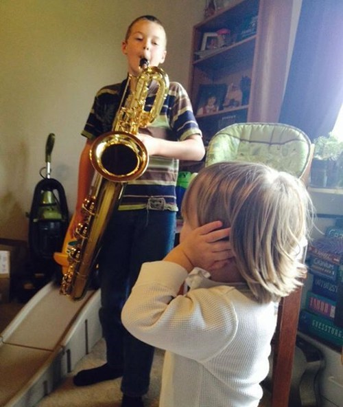Music kids saxophone parenting