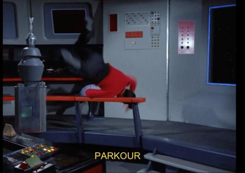 parkour TOS red shirt Star Trek - 7836305408