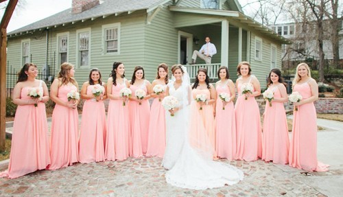 photobomb bridesmaids wedding