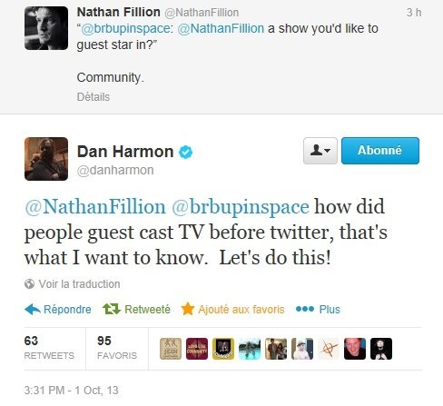 nathan fillion community celebrity twitter dan harmon - 7836320000