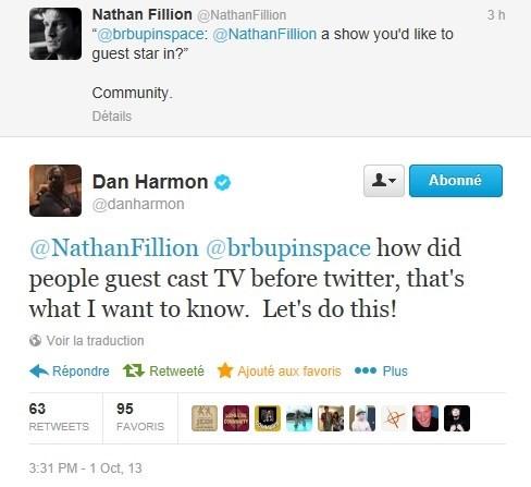 nathan fillion community celebrity twitter dan harmon - 7836320000