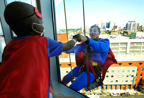 kids,window washer,superhero