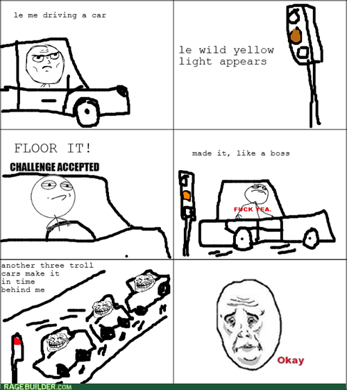 yellow light driving Okay - 7836420608