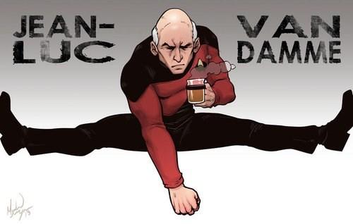 Fan Art earl grey jean-luc picard Jean-Claude Van Damme - 7836421888