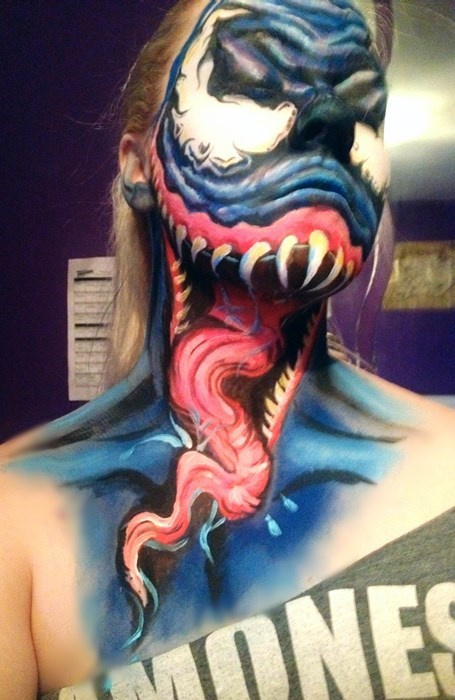 Venom,face paint,win