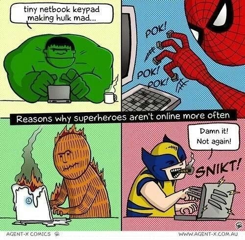 laptops human torch Spider-Man wolverine hulk - 7836600064