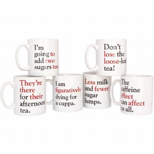 These Grammar Grumble Mugs Are Figuratively Perfect
