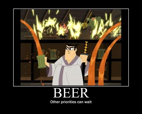 beer awesome sword samurai jack