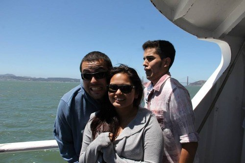 photobomb,friends,boat
