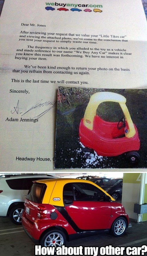 little tikes,we buy any car