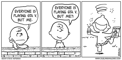 grand theft auto v,charlie brown,web comics