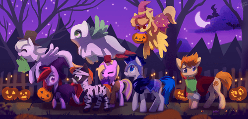 Fan Art halloween equestria - 7836826112