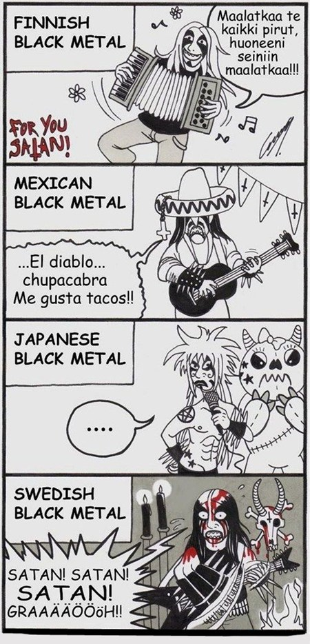 metal black metal funny