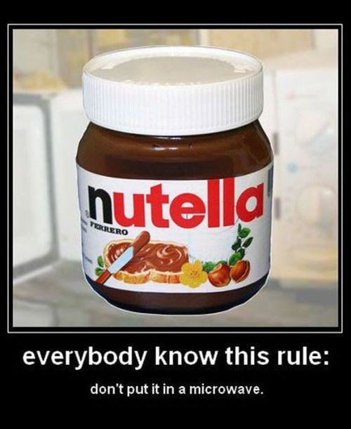 nutella rule funny microwave - 7837031424