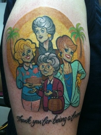 tattoos,golden girls,funny,g rated,Ugliest Tattoos