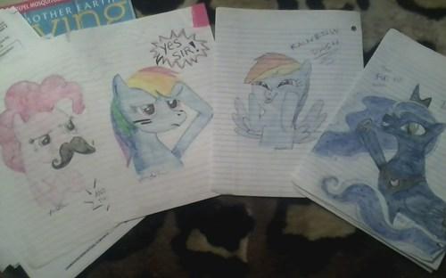 homework brony pinkie pie luna rainbow dash - 7837191936