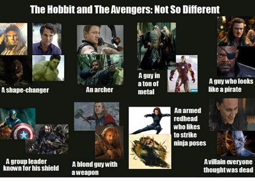movies The Avengers The Hobbit - 7837741056