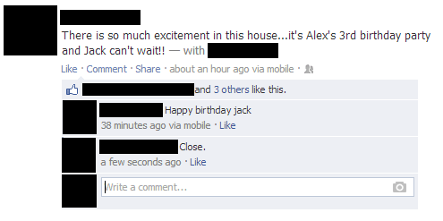 Birthday Fail