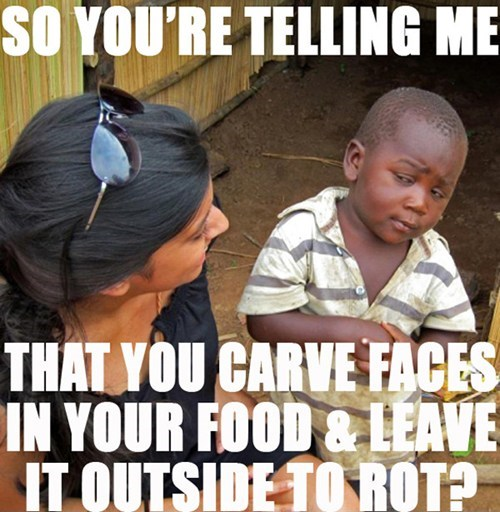 hallowmeme skeptical third world kid pumpkins - 7838193152