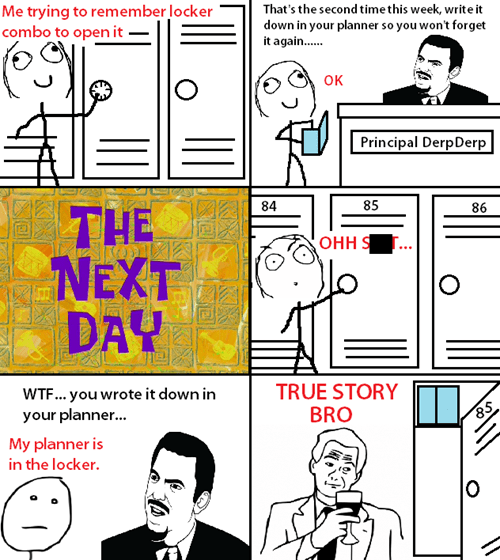 planners,lockers,poker face,true story,high school