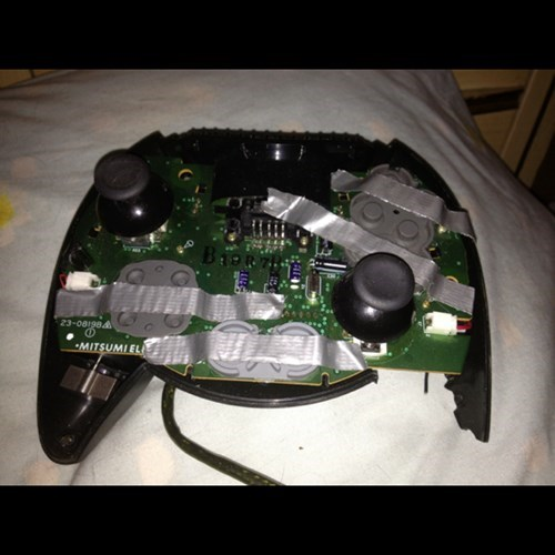 xbox controller,xbox,rage quit,video games,duct tape,there I fixed it