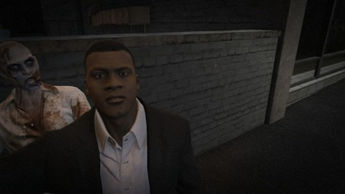 photobomb,GTA V,zombie